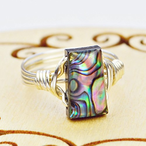 Trapezoid Abalone Shell Bead and Sterling Silver or, used for sale  Delivered anywhere in USA