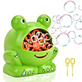 Showin Little Kids Bubble Machine - Automatic Bubble Maker Machine Durable High Output Bubble Blower,Frog Shape Easy to Use Bubble Blowing Machine
