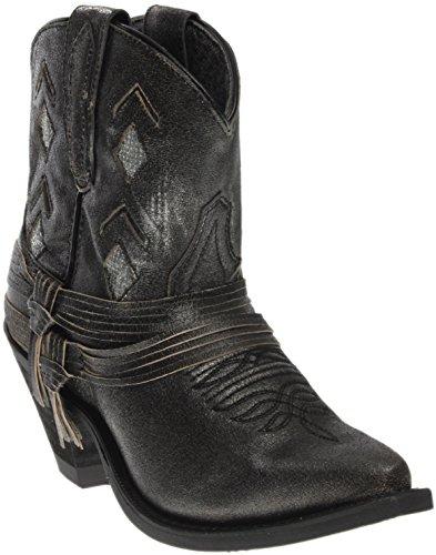 Laredo Womens Leather Jett Western Booties Snip Toe Black 8.5 M 66fNdAibKt