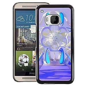Red-Dwarf Colour Printing Floral Blue Sci-Fi Abstract Purple Design - cáscara Funda Case Caso de plástico para HTC One M9