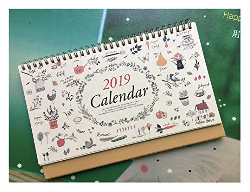 2019 Monthly Desk Pad Calendar with Stand, Twin-Wire Binding,July 2018 - December 2019,Monthly Planners For Office,School,Family,10''x6.7'' by MSUYACAN