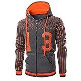 Sinzelimin Men's Top Mens Full Zip Hoodie Long Sleeve Hoodie Hooded Sweatshirt Tops Jacket Coat Tracksuit Jacket