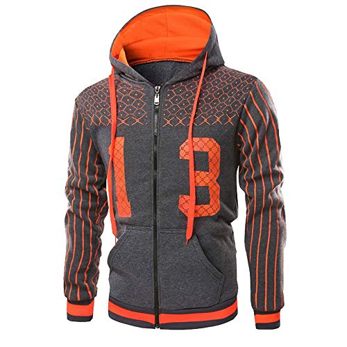 Assistant Sweatshirt Hooded (Leedford Mens Autumn Winter Printed Pullover Long Sleeve Hooded Sweatshirt Tops Blouse)