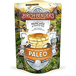 Paleo Pancake and Waffle Mix by Birch Benders, Low-Carb, High Protein, High Fiber, Gluten-free, Low Glycemic, Prebiotic, Keto-Friendly, Made with Cassava, Coconut and Almond Flour, 12 Ounce