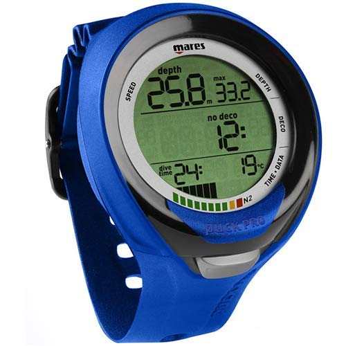 Mares Puck Pro Plus Wrist Dive Computer - Black/Blue