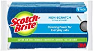 Scotch-Brite Non-Scratch Scrub Sponges, 9 Scrub Sponges, Lasts 50% Longer than the Leading National Value Bran