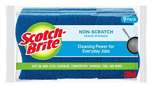 Scotch-Brite Non-Scratch Scrub Sponges, 9 Scrub Sponges