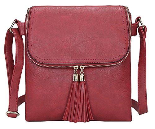 bandoulière Shop Design à femme Sac Taille Big 5 M pour Handbag main Red Xwq4qaW1