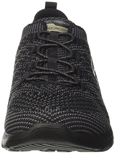 charcoal Para Galaxies Negro Skechers Entrenadores Mujer black wqYaxWgf6