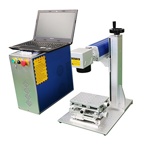 DIHORSE Mini Fiber Laser Marking Machine 20w for Permanent Metal Parts Marking and Engraving Tool with 2D Working Table