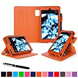 Fire HD 6 2014 Case, rooCASE Dual View Fire HD 6 Folio Case Cover with Stand [Supports Auto Sleep/Wake Feature] for Amazon Fire HD 6 2014, Orange