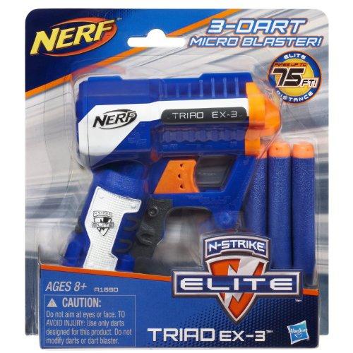 Bundle  Nerf N Strike Elite Triad Ex 3 Blaster Plus One 1  Pack Of N Strike Elite Darts 12 Darts