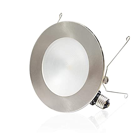 6 led recessed light 2 in 1 trim color options 12w dimmable led