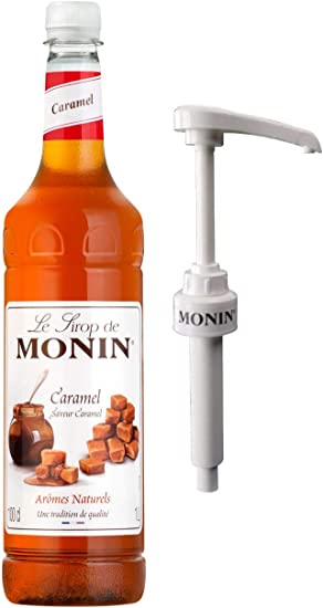 Monin Caramel Syrup 1ltr And Pump Amazon Co Uk Grocery