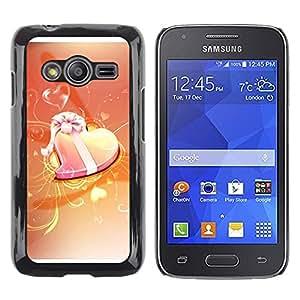 TopCaseStore / la caja del caucho duro de la cubierta de protección de la piel - Love Orange - Samsung Galaxy Ace 4 G313 SM-G313F