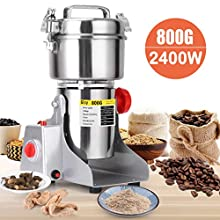 SLSY 800g Electric Grain Grinders Mill Machine for Home Use, 304 Stainless Steel Grain Grinding Machine for Wheat Flour Grains, Commercial Powder Machine