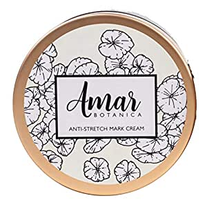 Pregnancy Stretch Marks Prevention and Removal Cream   OBGYN Recommended Amar Botanica   100% Safe for Unborn Baby and Mommy   Vegan, Paraben-Free, Organic Formulation 8oz