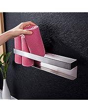 Ruicer Wieszak na ręczniki dla gości, samoprzylepny, bez wiercenia, regał na ręczniki, stal nierdzewna, uchwyt na ręczniki dla gości, 40 cm