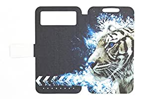 General Carcasa PU Cover para Funda Celkon Millennia Everest Funda Case LH