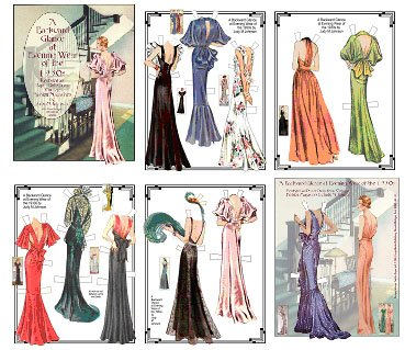 Backward Glance Fashion Paper Doll of the 1930s #597