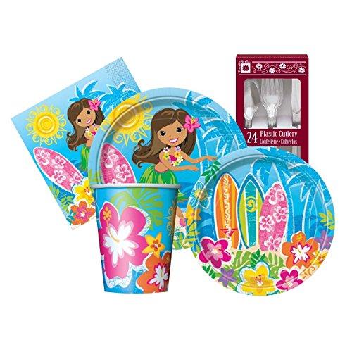 Hula Beach Party Themed Supply Kit Serves 8