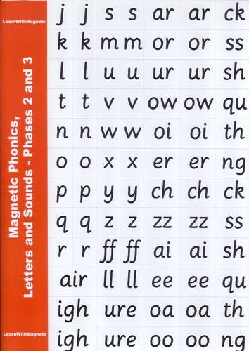 magnetic phonics letters and sounds phases 2 3 amazoncouk julia mayhew books