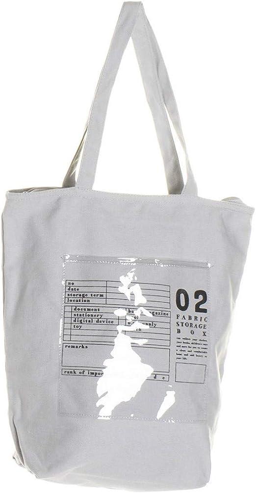 Hogar y Mas Bolsa Algodón con Cremallera, Gran Capacidad con Bolsillo Interno. Bolsas para Playa o Piscina 25X15X64 cm - Gris: Amazon.es: Hogar