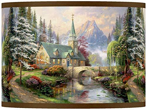 (Thomas Kinkade Dogwood Chapel Shade 13.5x13.5x10)