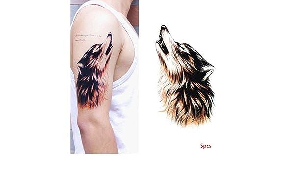 Dergtgh Engomada del Tatuaje Temporal 5pcs Hombres Etiqueta ...