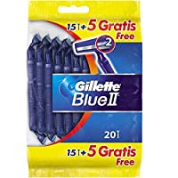 Gillette Blue II Disposable Razors, 20 Razors