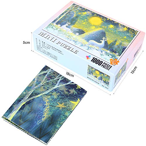Peradix 1000 Piece Wood Jigsaw Puzzle Adults /Kids /Children - Wooden Puzzle for Adult Reduced Pressure Toy Gift - Education Toys Gift -(Deer)