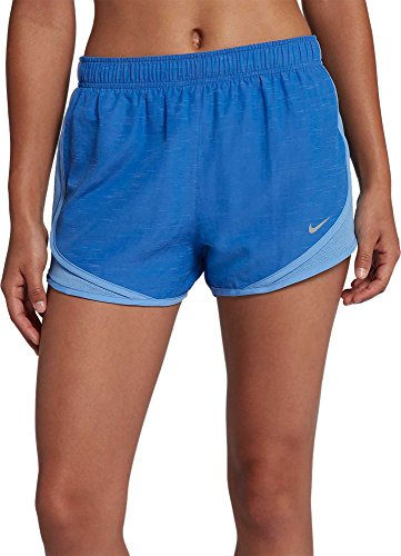 cdf0610ec54d NIKE Women's 3'' Heatherized Tempo Running Shorts (Signal Blue, X-Large)