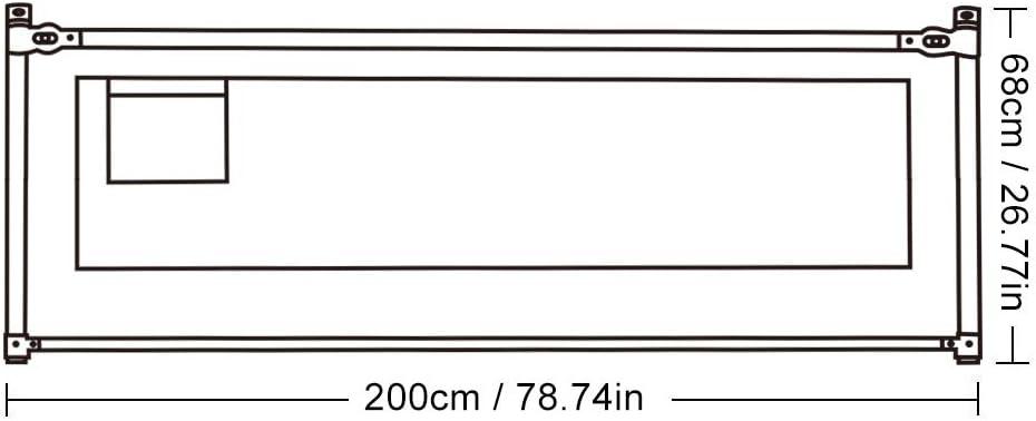 150//180//200cm Barri/ères de Lit Enfants B/éb/és Hauteur R/églable Protection Bord de Lit Pliable pour S/écurit/é des Enfants 150cm