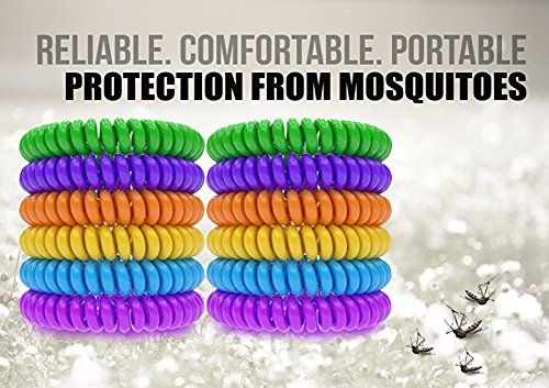 12 Pack Mosquito Repellent Bracelet Band - [320Hrs of Protection] Pest Control Insect Bug Repeller - Natural Indoor/Outdoor Insects - Best Products with NO Spray for Men, Women, Kids, Children by iCooker (Image #3)