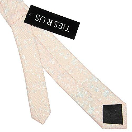 Tie TiesRus Men's Floral Skinny Peach nfxxOvqHX