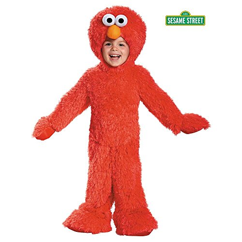 [Disguise 76876S Elmo Extra Deluxe Plush Costume, Small (2T)] (Best 80s Character Costumes)