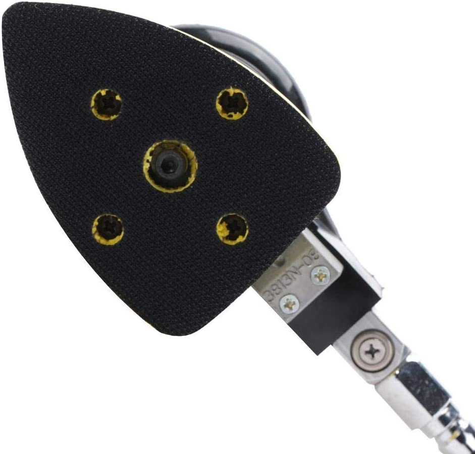 Pneumatic Sanding Tool Handheld Air Sander Grinder Polisher Pneumatic Polishing Tool Pneumatic Polishing Machine 12000RPM 90psi Pneumatic Grinding Tool 75 * 100mm