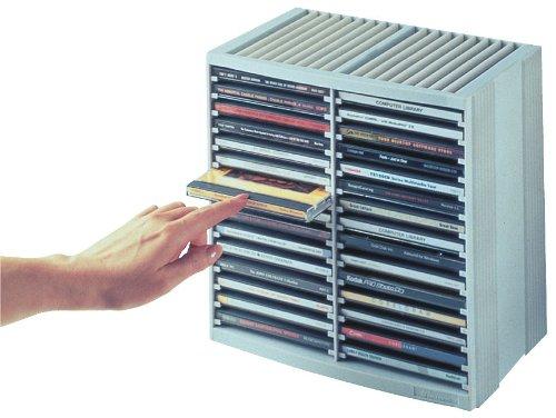Fellowes 9823003 CD-Regal mit Federmechanik