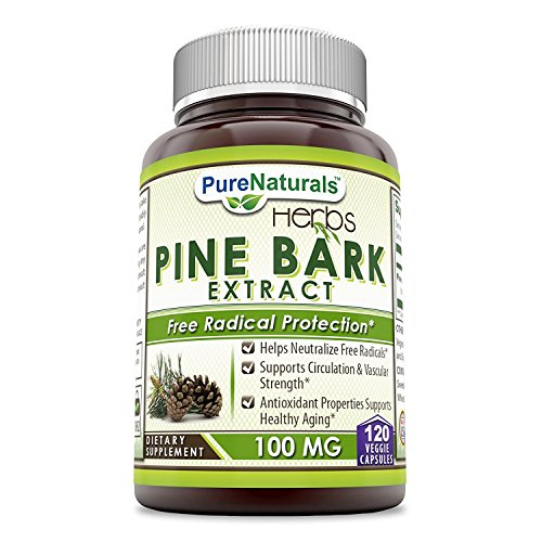 Inner Bark 100 Capsules - Pure Naturals Pine Bark Extract 100 mg, Veggie Capsules -Supports Circulation & Vascular Strength -Antioxidant Properties supports healthy Aging -Helps Neutralize free Radicals (120)