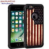 iPhone 6 Plus Case, iPhone 6s Plus Case,Rossy Retro Vintage Old USA American Flag Design Shock-Absorption Hybrid Dual Layer Armor Defender Protective Case Cover for Apple iPhone 6 / 6S Plus 5.5 inch