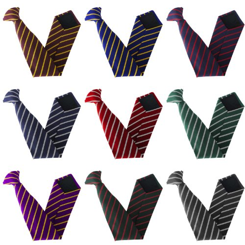 amp; Single Ties School Variations Grey Maroon Colour Stripe On Size Clip amp; gOZq5wY6A