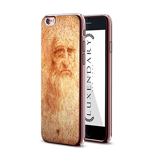 Luxendary LUX-i6crmr-DAVINCI1 Chrome Series Case in Rose Gold for iPhone 6/6S - Leonardo Da Vinci Portrait Design