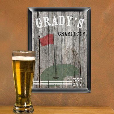 - Personalized Traditional Golf Man Cave Pub Sign
