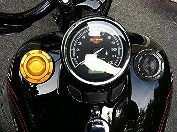 DLLL r/étro Alu Moto Fuel gas R/éservoir dhuile Bouchon pour Harley Harley Davidson Dyna Softail Sportster Touring Xl883/Xl1200/x48/72/883r 883l