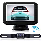 "Cheap Wireless Backup Camera with Monitor System 5"" LCD Wireless Monitor Rearview Revering Rear View Back up Camera for Backing Parking Car Vehicle E5 eRapta"