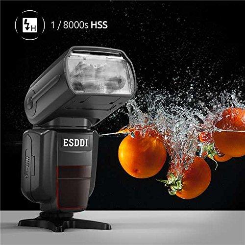 1//8000 HSS Flash Inal/ámbrico Speedlite GN58 2.4G Radio Inal/ámbrico Master Slave para Nikon DSLR Kit Profesional de Flash con Disparador de Flash Inal/ámbrico ESDDI I-TTL Flash Speedlite para Nikon