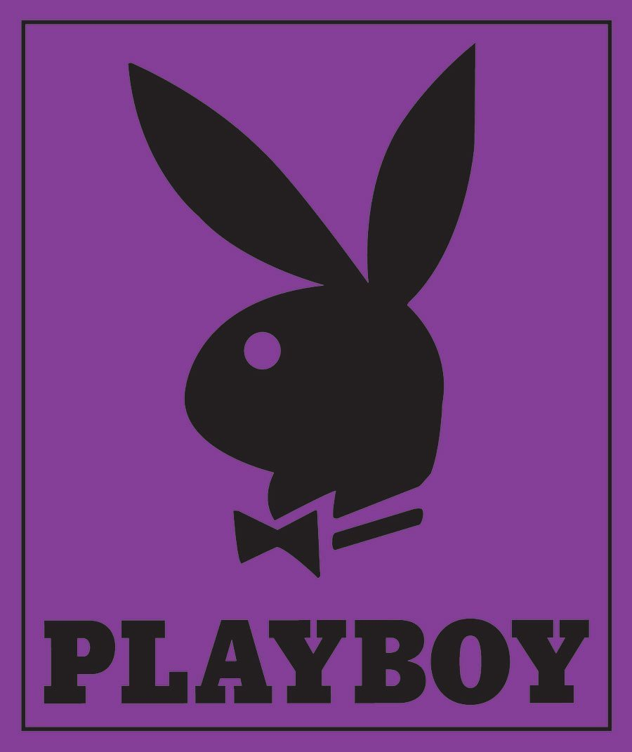 Classic Purple Playboy Bunny Head with Tuxedo Covertures Blanket