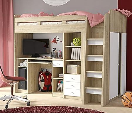 Hochbett Etagenbett Mit Kleiderschrank Und Schreibtisch 2151451
