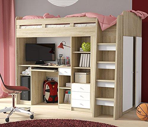 Hochbett Etagenbett mit Kleiderschrank und Schreibtisch 2151451 ...