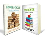 Homeschool Planner Bundle - Two Great Homeschool Planners: Includes a Home School Curriculum Planner and Students Weekly Planner with Over 100+ Pages Combined - Perfect for High School and College Uses. School Approved with 90 Day Money-back Guarantee